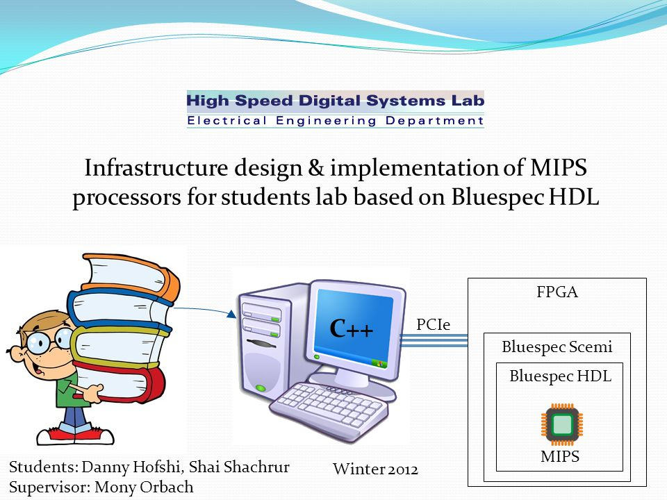 Infrastructure design & implementation of MIPS processors for students lab based on Bluespec HDL