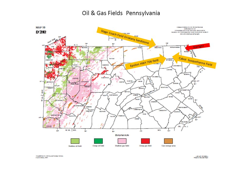 Oil & Gas Fields Pennsylvania