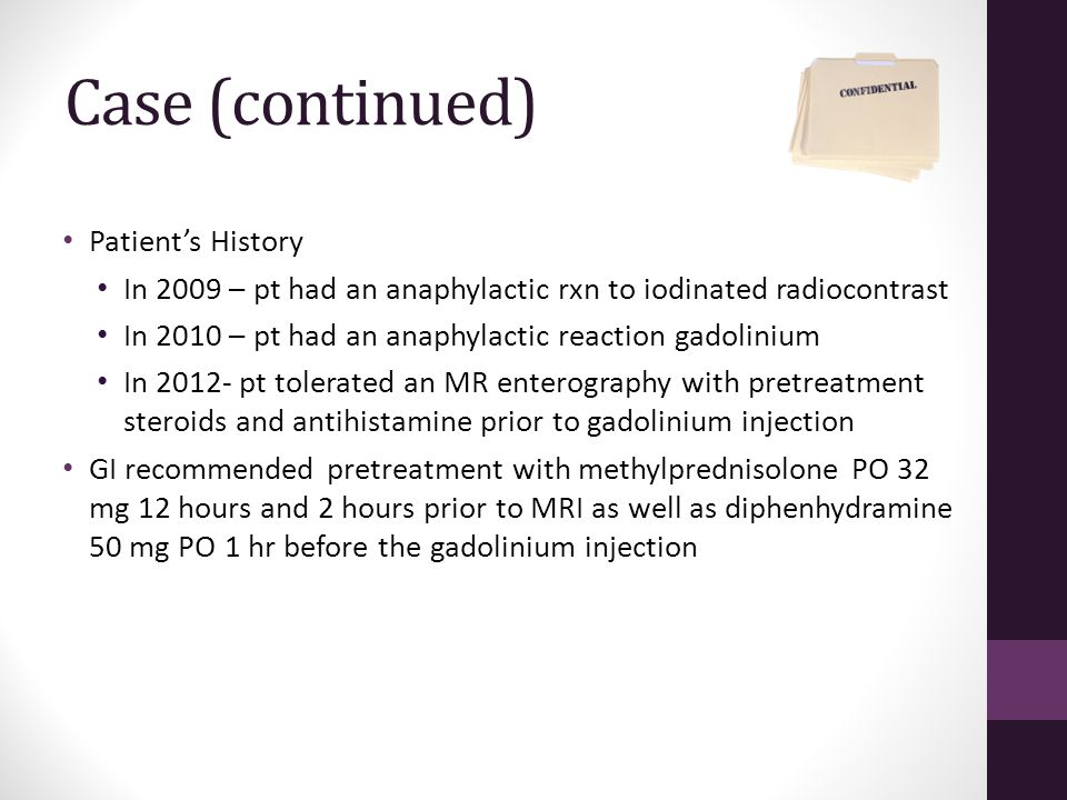 Case (continued) Patient's History