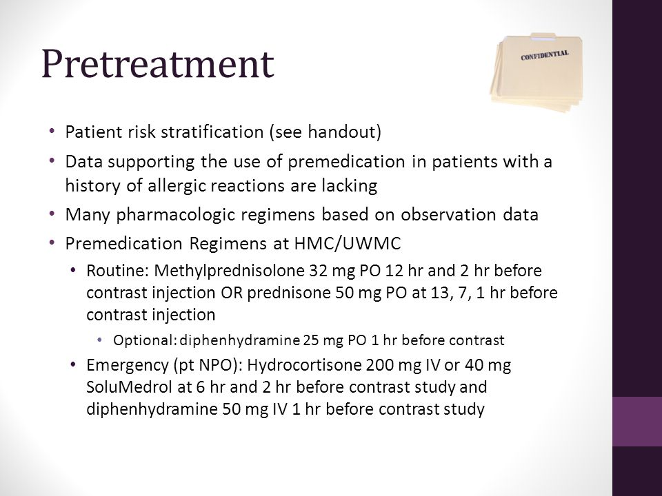Pretreatment Patient risk stratification (see handout)