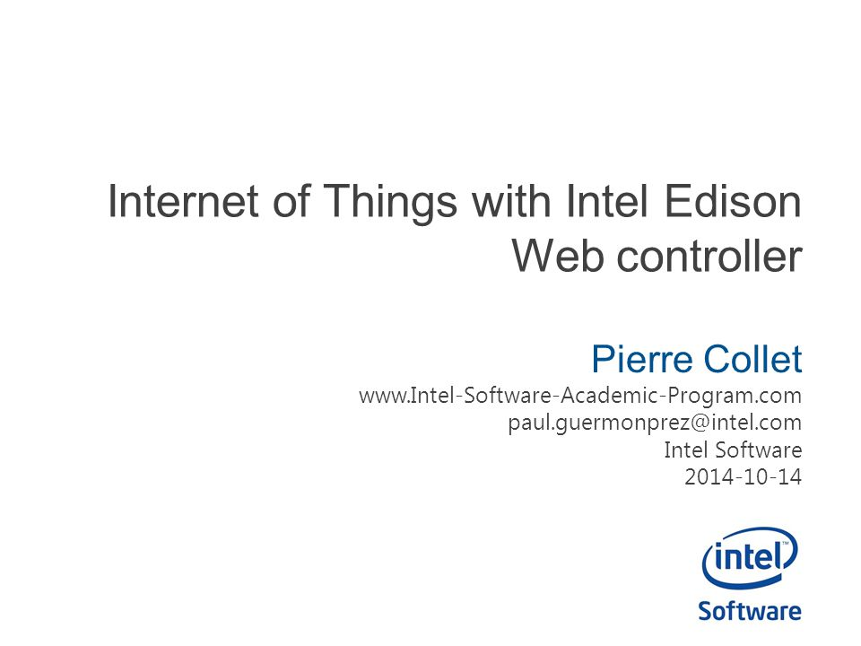 Internet of Things with Intel Edison Web controller