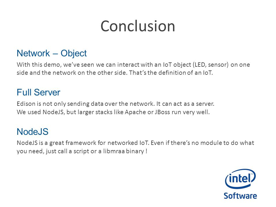 Conclusion Network – Object Full Server NodeJS