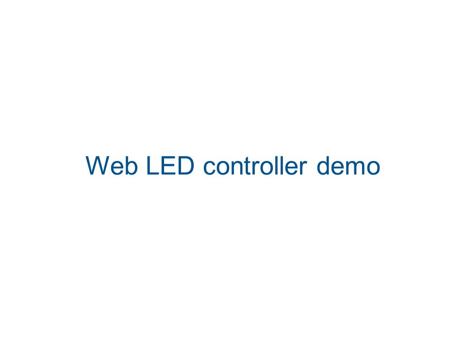 Web LED controller demo