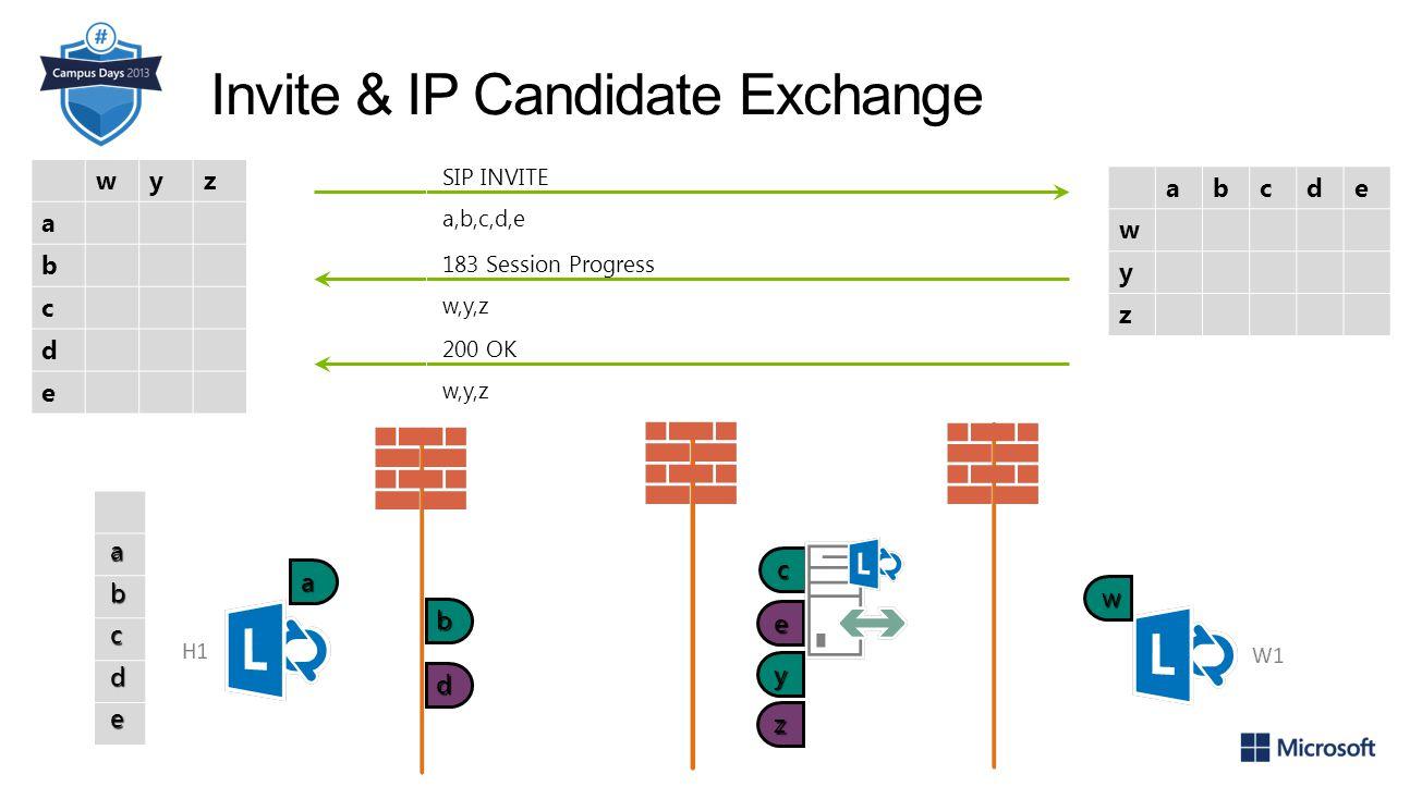 Invite & IP Candidate Exchange