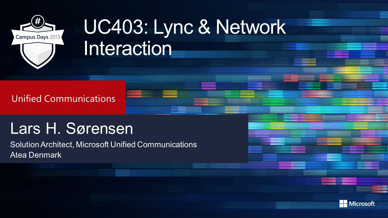 UC403: Lync & Network Interaction