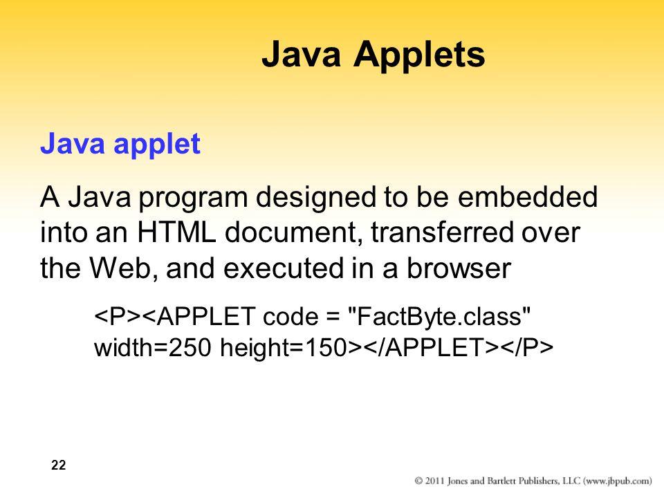 Java Applets Java applet