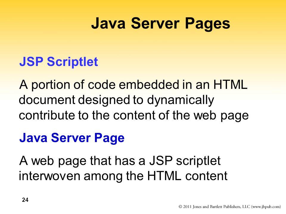 Java Server Pages JSP Scriptlet