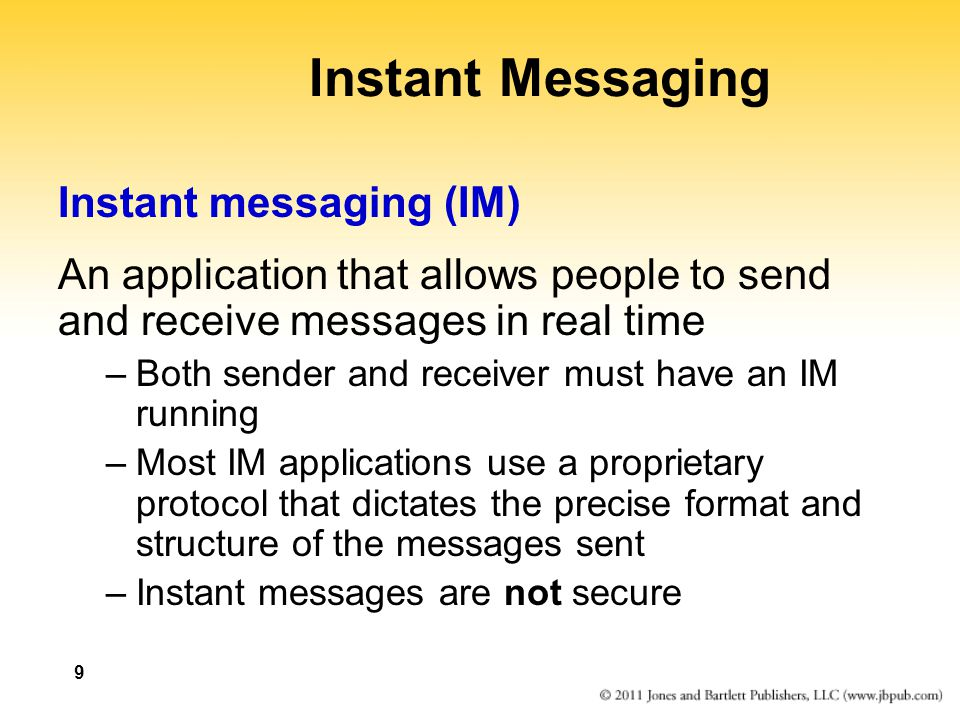 Instant Message People : Chapter the world wide web ppt video online download