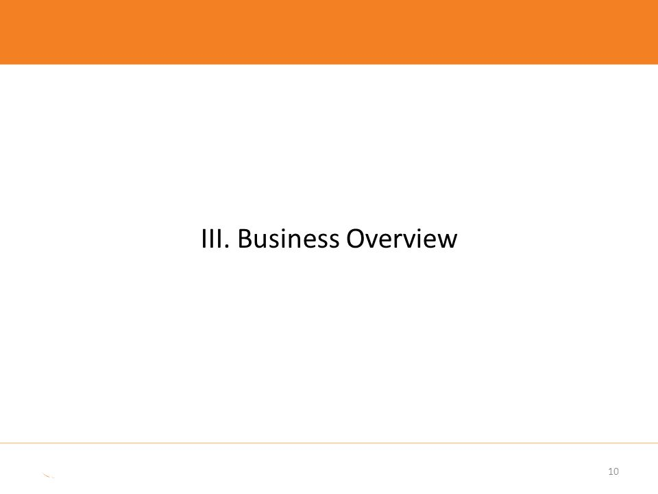 III. Business Overview