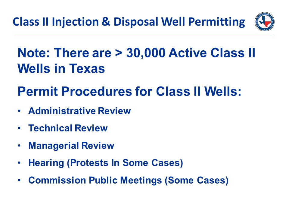 Class II Injection & Disposal Well Permitting