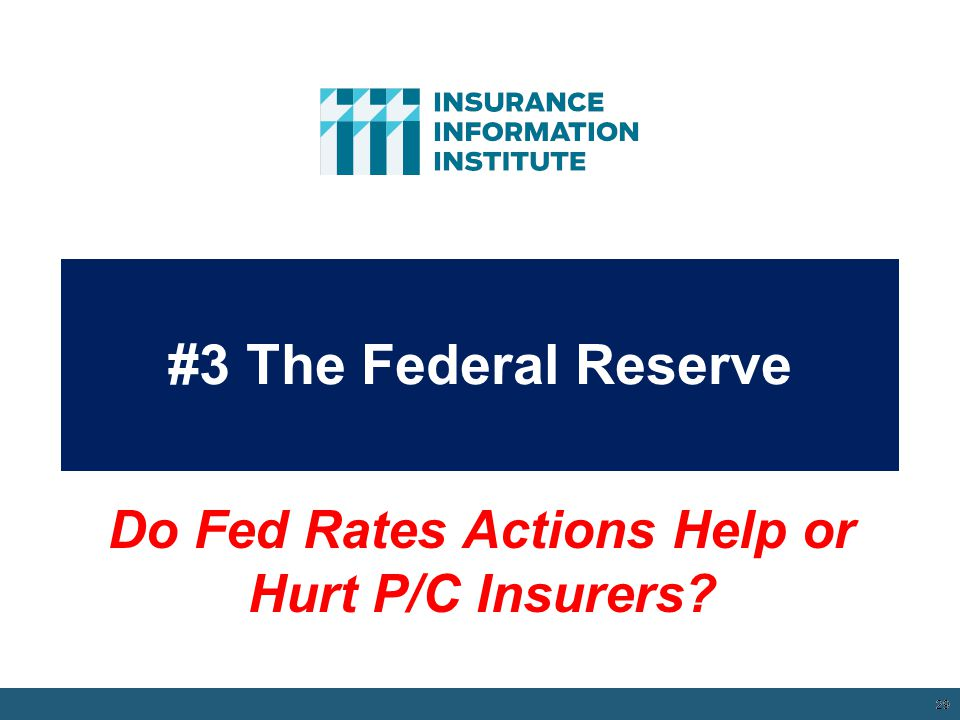 Do Fed Rates Actions Help or Hurt P/C Insurers
