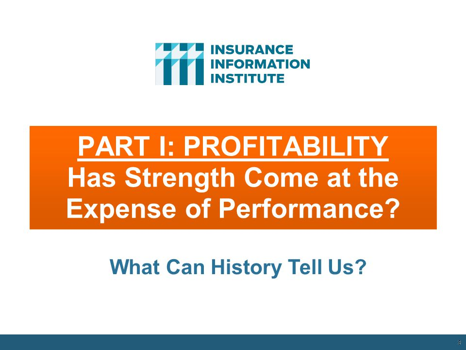 PART I: PROFITABILITY Has Strength Come at the Expense of Performance