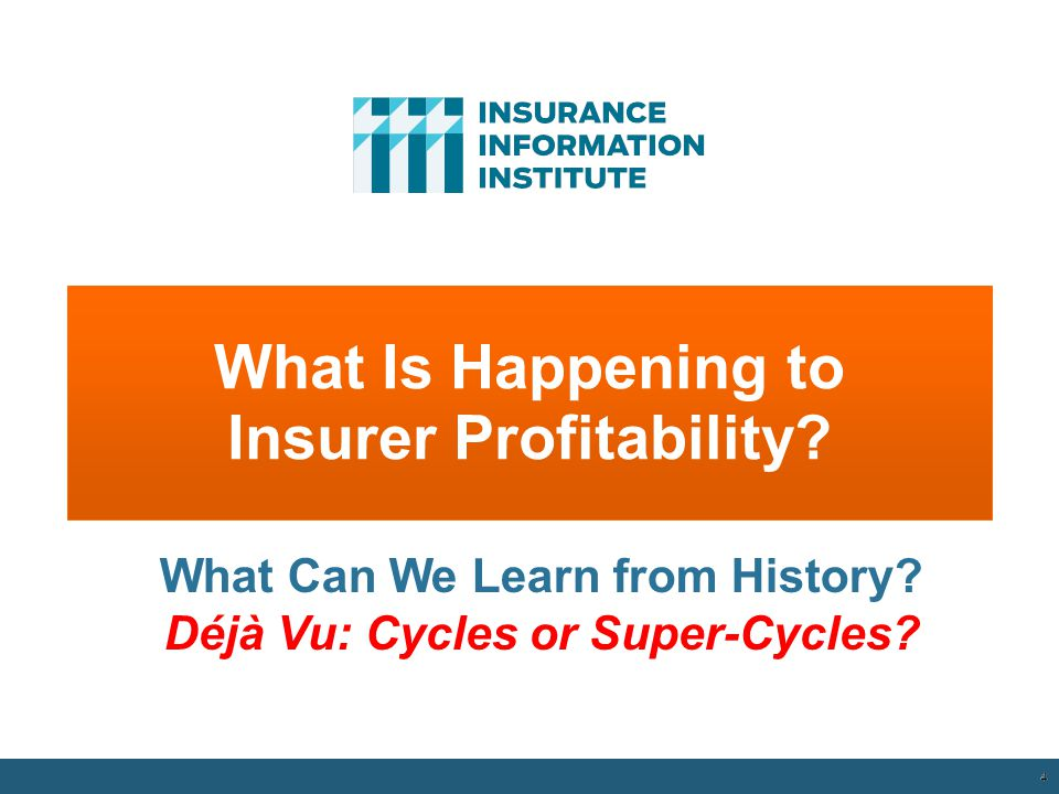 What Is Happening to Insurer Profitability