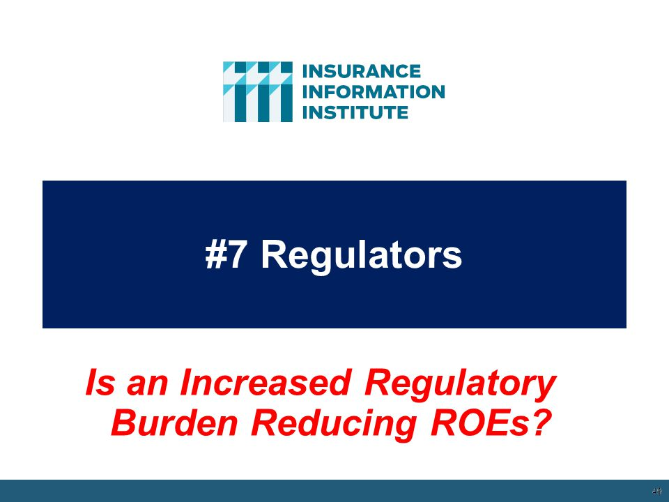 Is an Increased Regulatory Burden Reducing ROEs