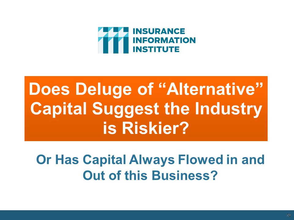 Does Deluge of Alternative Capital Suggest the Industry is Riskier