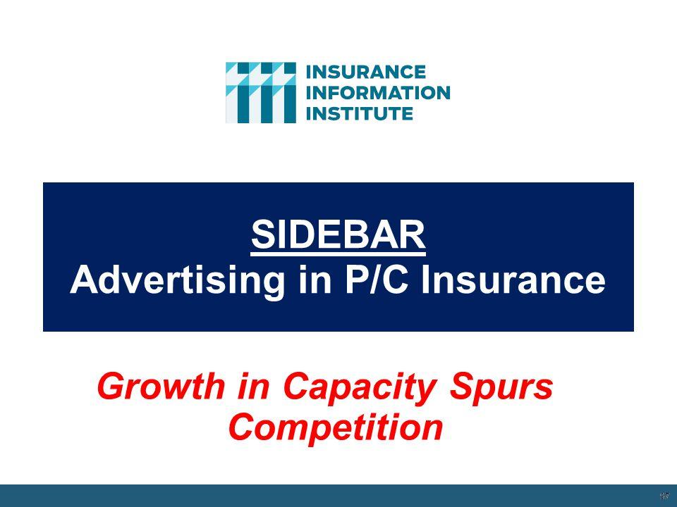SIDEBAR Advertising in P/C Insurance