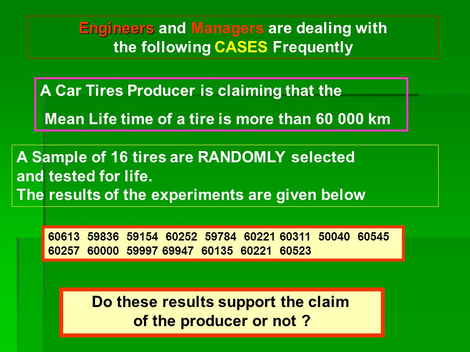 Engineers and Managers are dealing with the following CASES Frequently