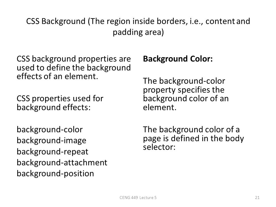 CSS Background (The region inside borders, i. e