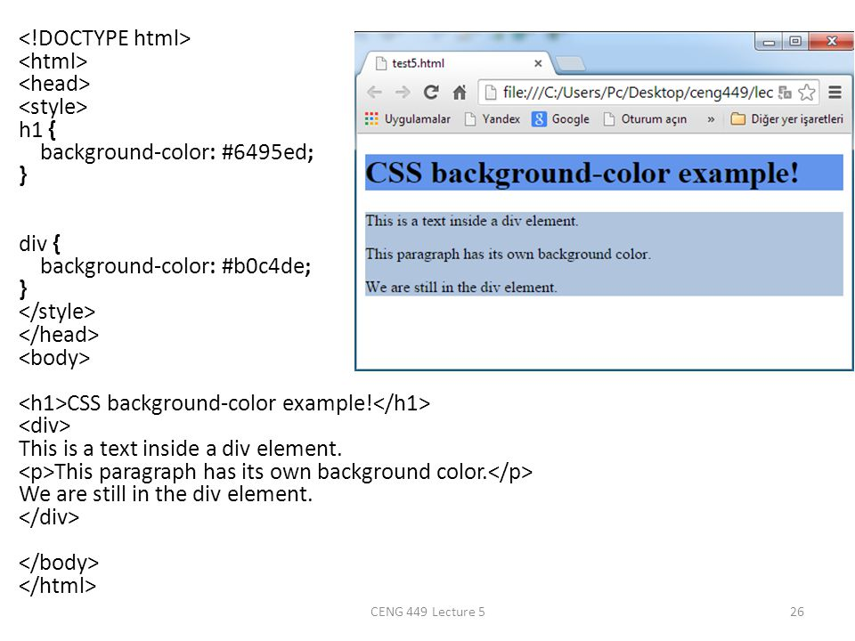 Css css stands for cascading style sheets styles define how to display html elements external - Div tag properties ...