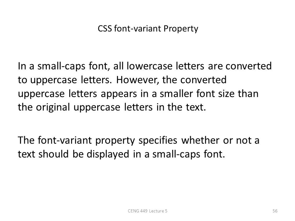 CSS font-variant Property