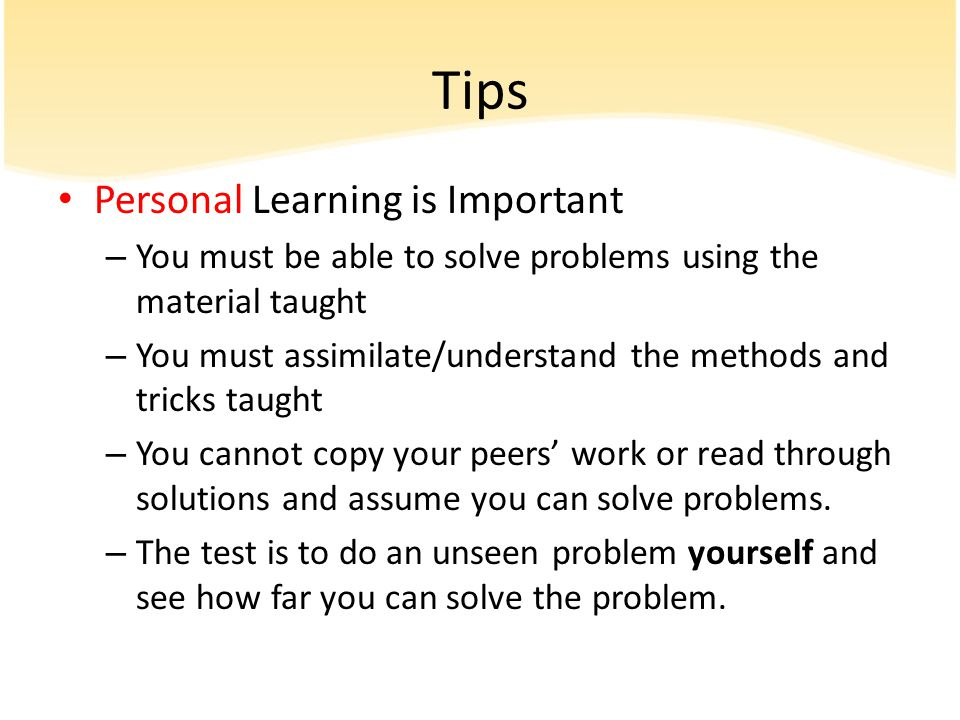 Tips Personal Learning is Important