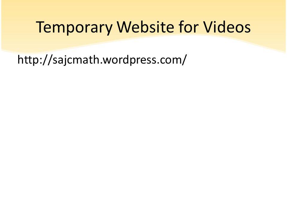 Temporary Website for Videos