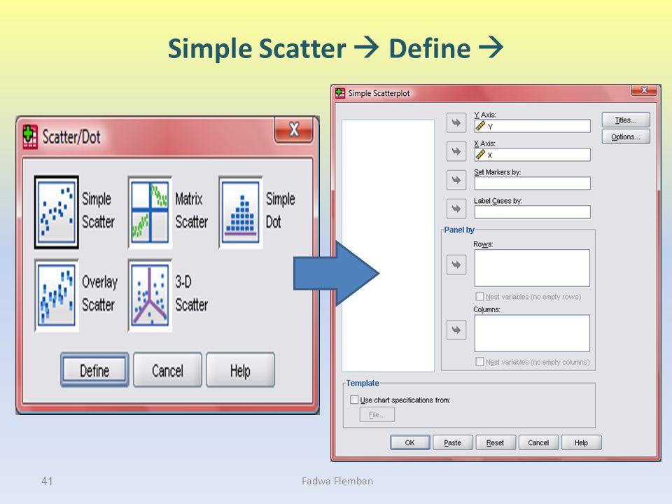Simple Scatter  Define 
