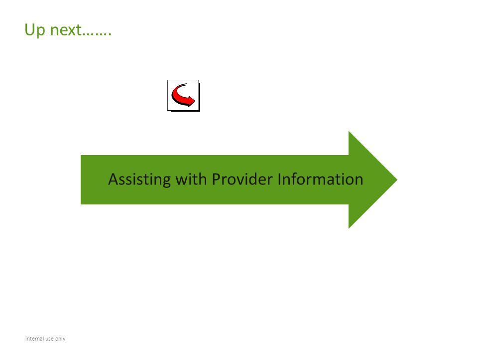 Assisting with Provider Information