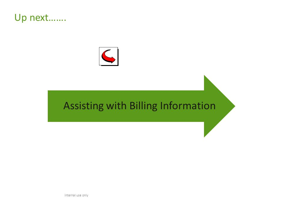 Assisting with Billing Information