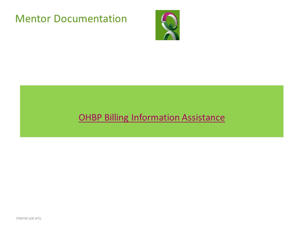 OHBP Billing Information Assistance