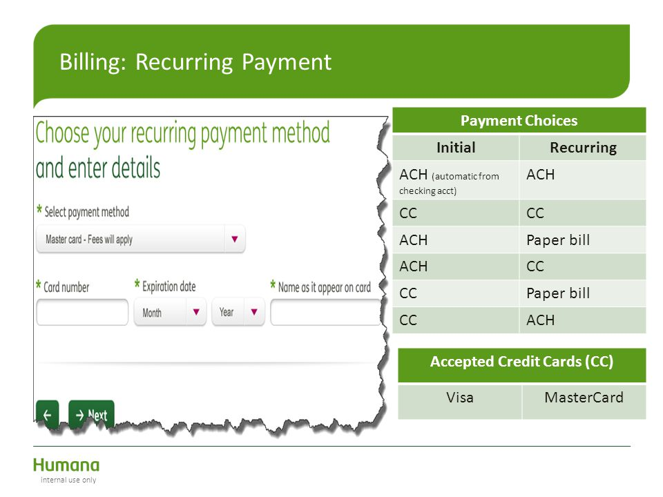 Billing: Recurring Payment