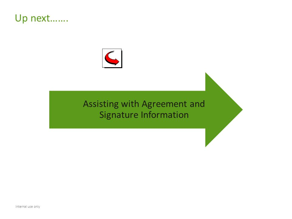 Assisting with Agreement and Signature Information