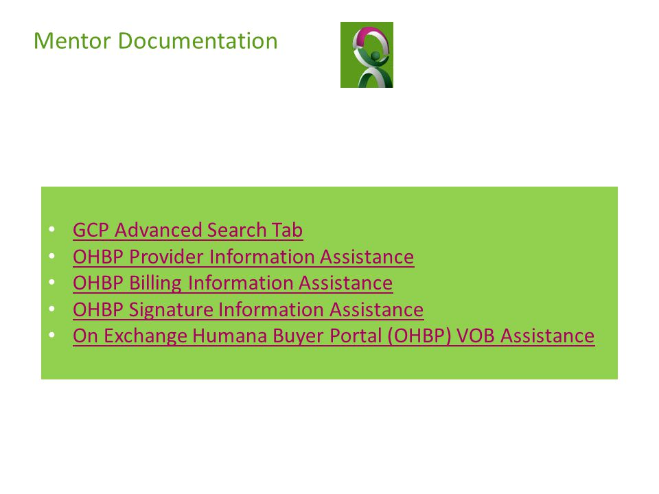 Mentor Documentation GCP Advanced Search Tab