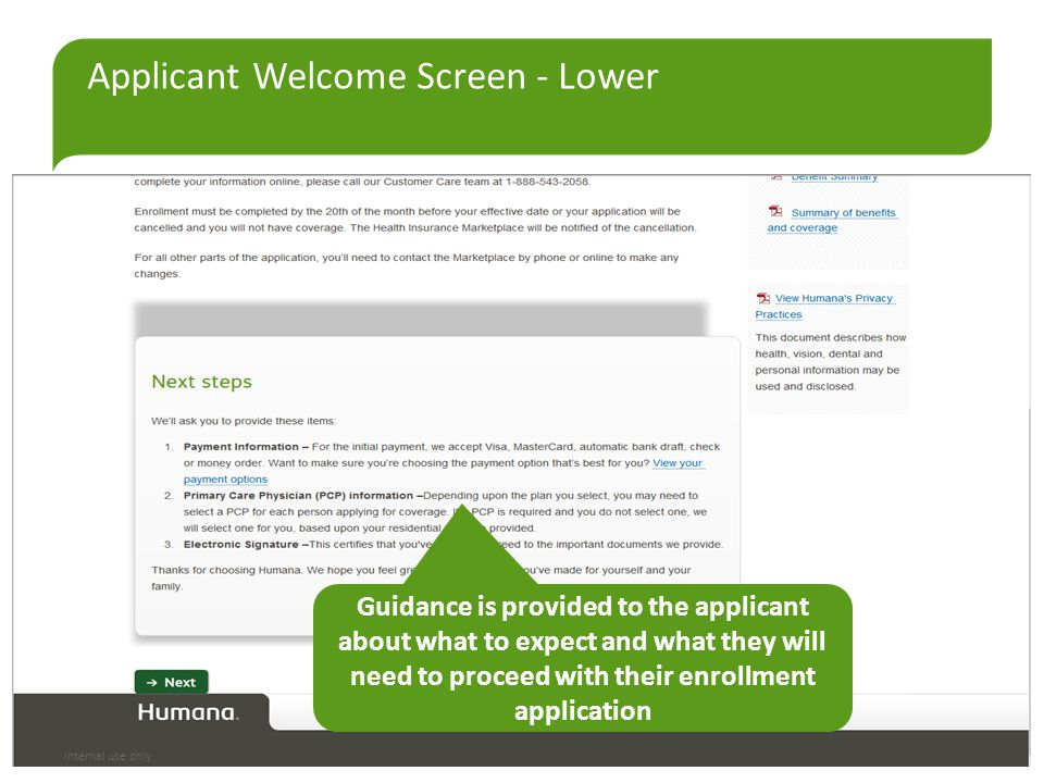Applicant Welcome Screen - Lower