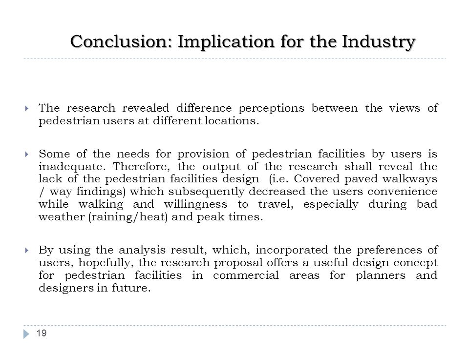 Conclusion: Implication for the Industry