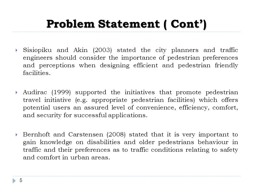 Problem Statement ( Cont')