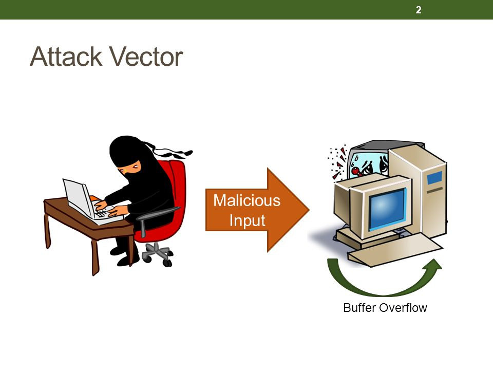 Attack Vector Malicious Input Buffer Overflow