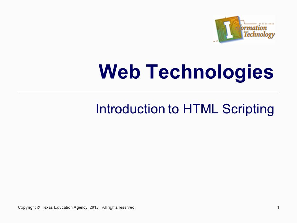 Introduction to HTML Scripting