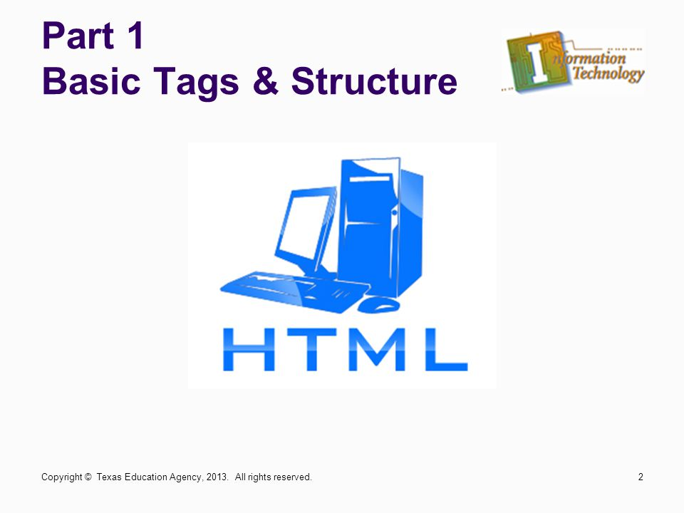 Part 1 Basic Tags & Structure