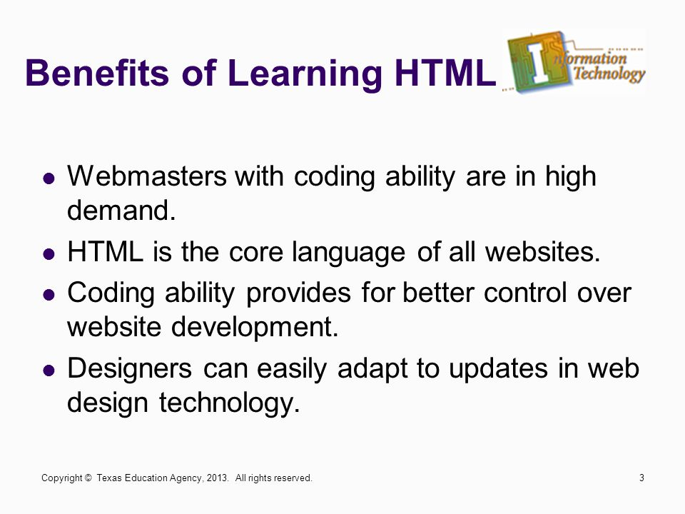 Benefits of Learning HTML