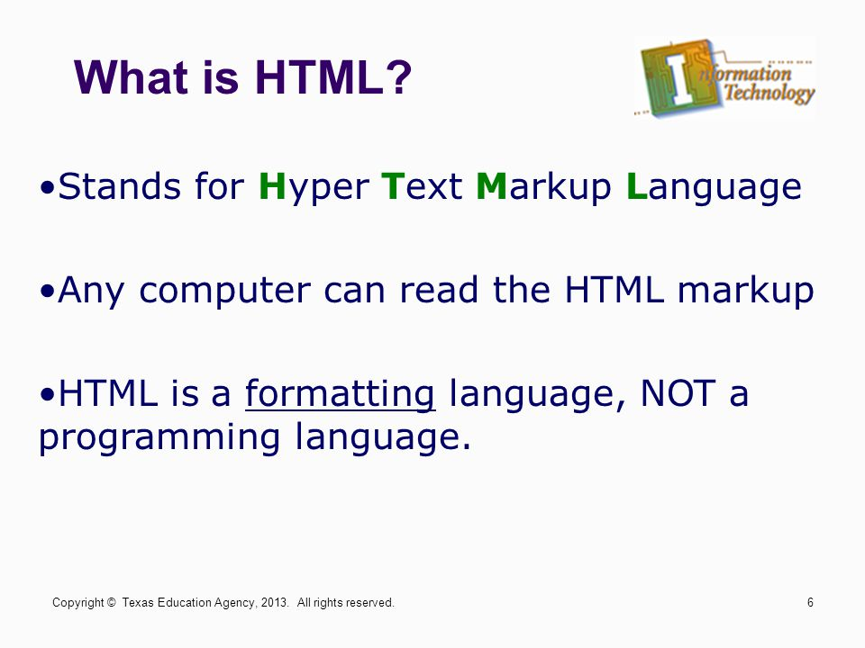 What is HTML Stands for Hyper Text Markup Language