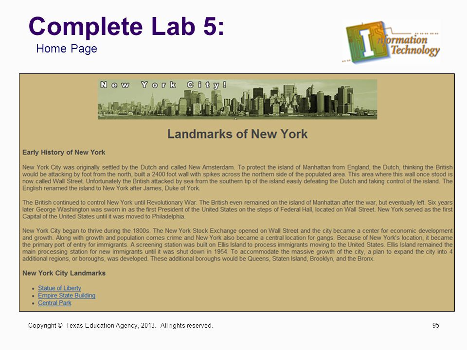 Complete Lab 5: Home Page