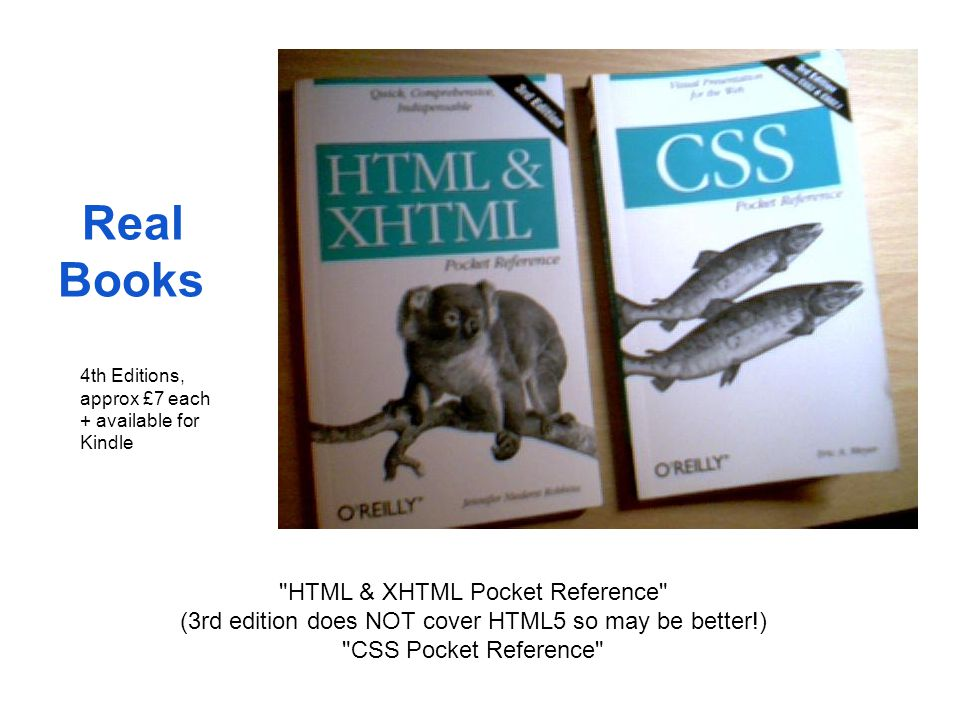 Real Books HTML & XHTML Pocket Reference