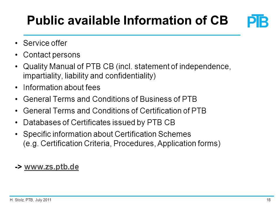 Public available Information of CB