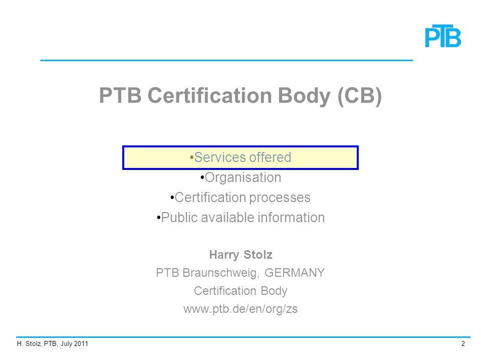 PTB Certification Body (CB)