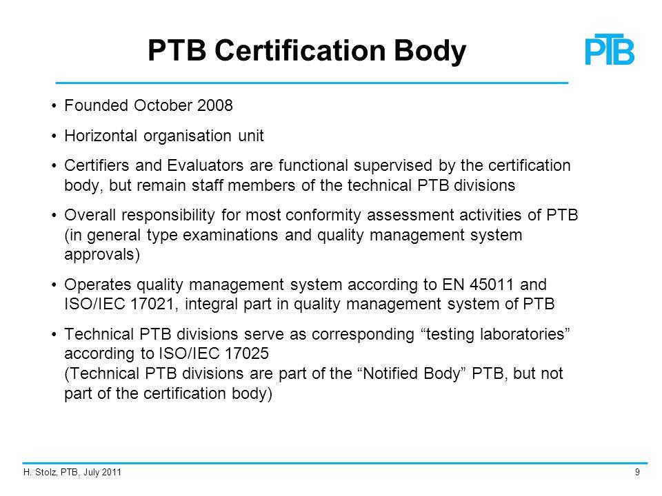 PTB Certification Body