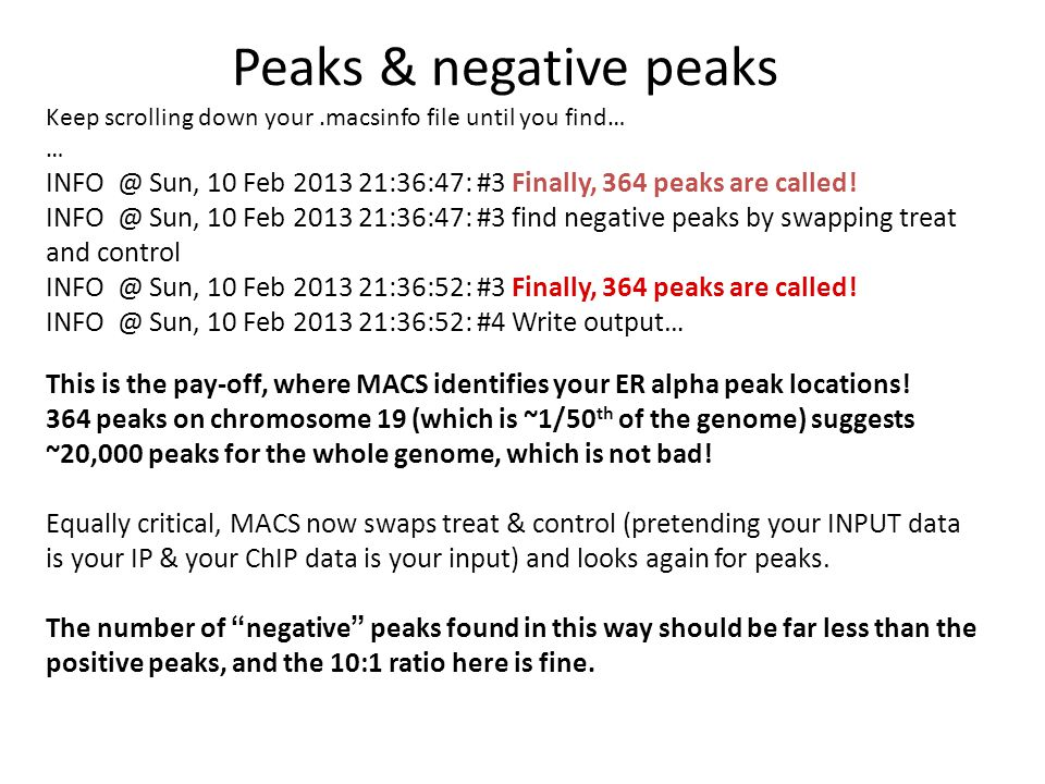 Peaks & negative peaks Keep scrolling down your .macsinfo file until you find… …