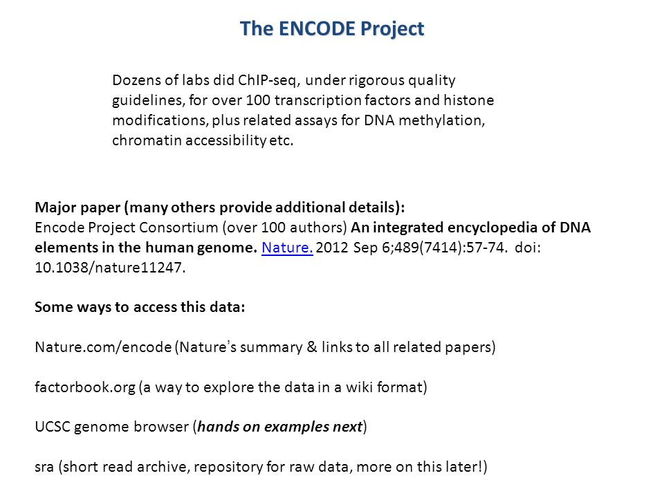 The ENCODE Project