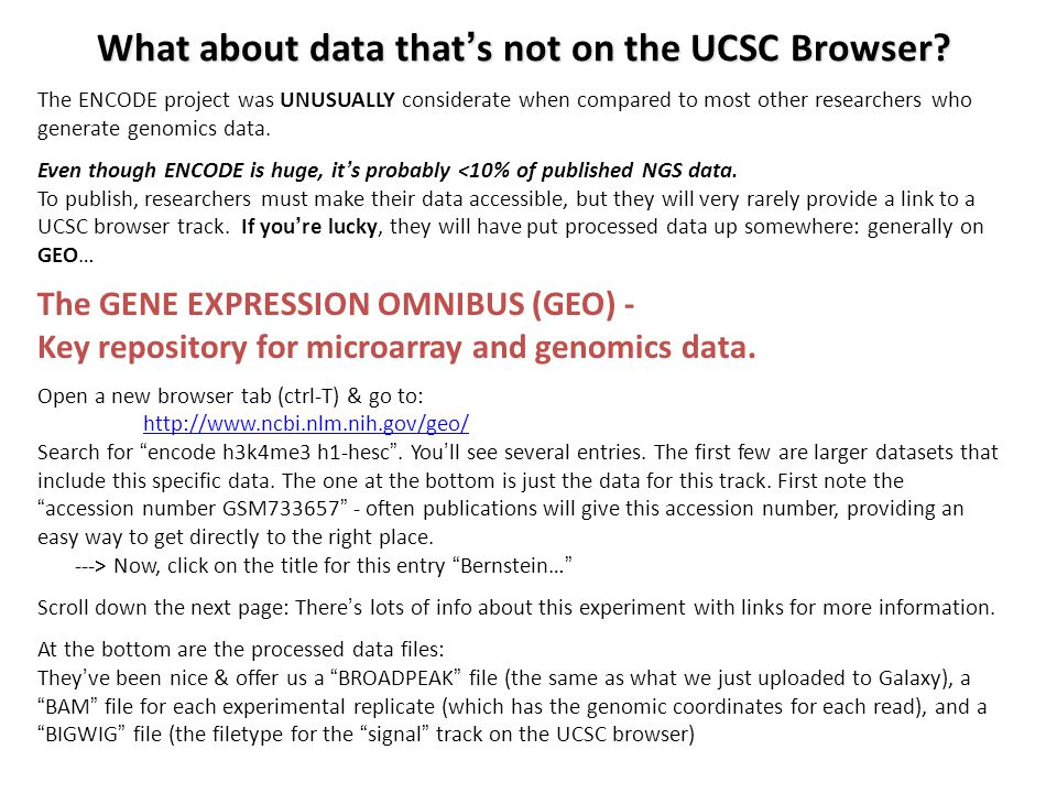 What about data that's not on the UCSC Browser