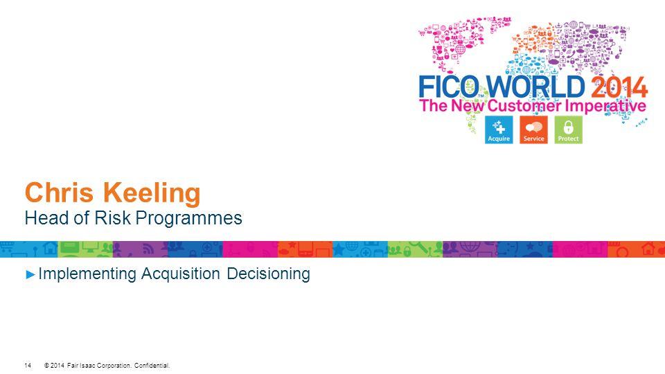 Chris Keeling Head of Risk Programmes